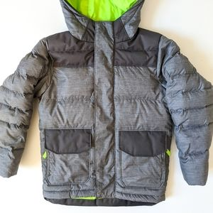 Super warm North Face down filled grey jacket